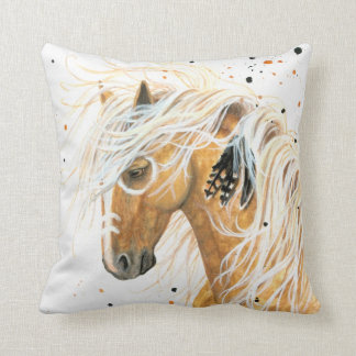 Palomino Horse by BiHrLe Pillow