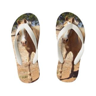 Palomino Horse Greeting, Kid's Flip Flops
