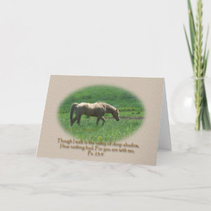 Palomino Horse Sympathy Ps. 23 Card