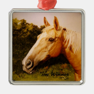Palomino Horse with white blaze Christmas Ornament