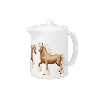 Palomino Irish Gypsy Horse Teapot