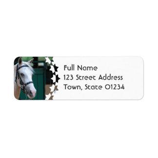 Palomino Paso Fino  Mailing Label Return Address Label