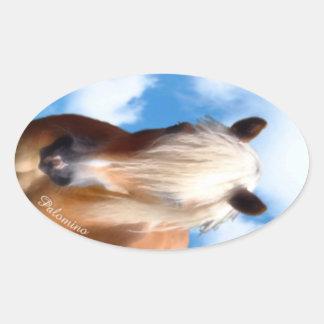 Palomino Pony Oval Sticker