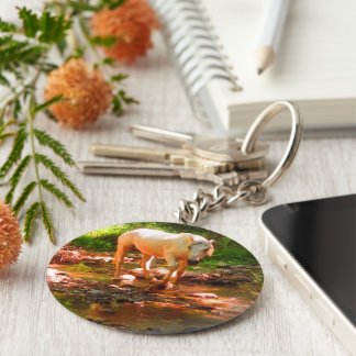 Palomino Quarter Horse Key Ring