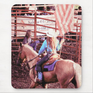 Palomino Rodeo American Flag Horse Mouse Pad