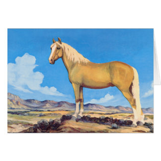 Palomino Stallion Card