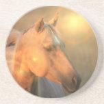 Palomino Sunlight Horse Coasters