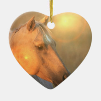 Palomino Sunset Horse Ornament