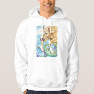 Palomino Unicorn Sea Horse Fantasy Art Hoodie
