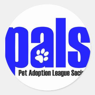 pals-blue round sticker