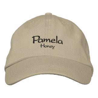 Pamela / Honey Embroidered Cap