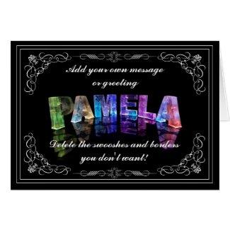 Pamela - Name in Lights greeting card (Photo)