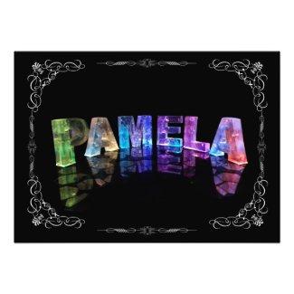 Pamela - The Name Pamela in 3D Lights (Photograph