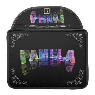 Pamela - The Name Pamela in 3D Lights (Photograph Sleeves For MacBooks