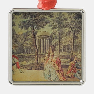 Pamina! You're here! Good God!, Act II Silver-Colored Square Decoration