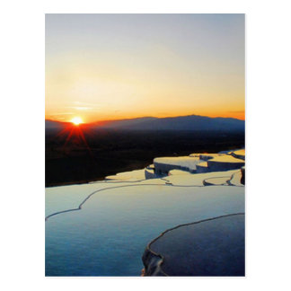 Pammukale at Nightfall Postcard