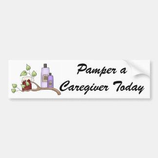 Pamper a Caregiver Today Bumper Sticker