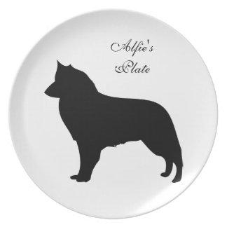 Pampered pet custom name food dish,  plate