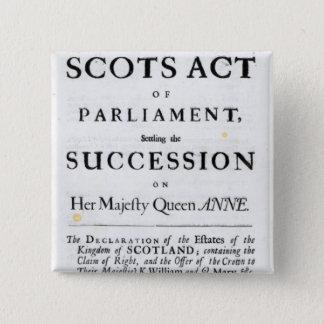 Pamphlet announcing 15 cm square badge