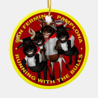 Pamplona - San Fermin Christmas Ornament