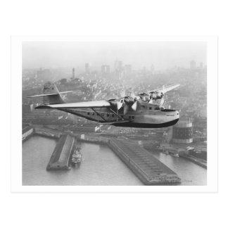 Pan American China Clipper and San Francisco 2 Postcard