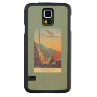 Pan-American Clipper Flying Over China Carved Maple Galaxy S5 Case