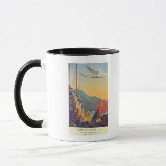 Pan-American Clipper Flying Over China Mug