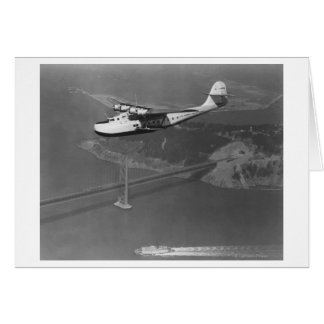 Pan American Philippine Martin Clipper over Greeting Card