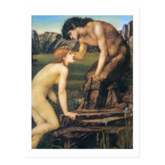 Pan and Psyche - Edward Burne-Jones Postcard