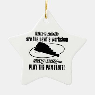 pan flute  music  design ceramic star decoration