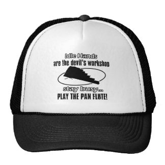 pan flute music design mesh hat