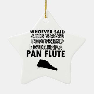 Pan Flute musical instrument Ceramic Star Decoration