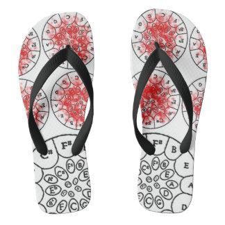 'Pan in Colour' Flip flops