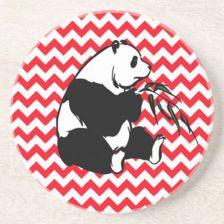 Panada on Fire Engine Red Chevron Coaster