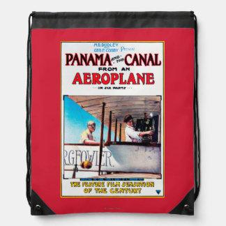 Panama and the Canal Aeroplane Movie Promo Poste Drawstring Bag