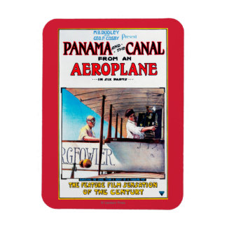 Panama and the Canal Aeroplane Movie Promo Poste Rectangular Magnets