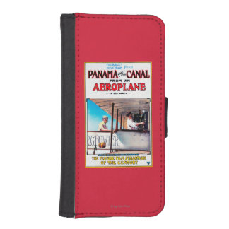 Panama and the Canal Aeroplane Movie Promo Poste iPhone SE/5/5s Wallet Case