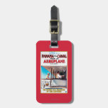 Panama and the Canal Aeroplane Movie Promo Poste Luggage Tag