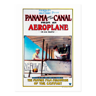 Panama and the Canal Aeroplane Movie Promo Poste Postcard