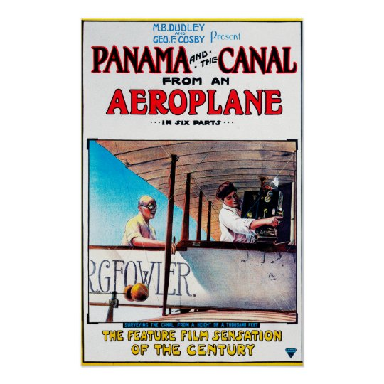 Panama and the Canal Aeroplane Movie Promo Poste Poster