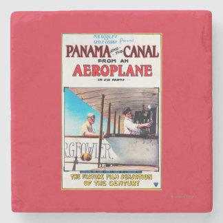 Panama and the Canal Aeroplane Movie Promo Poste Stone Beverage Coaster