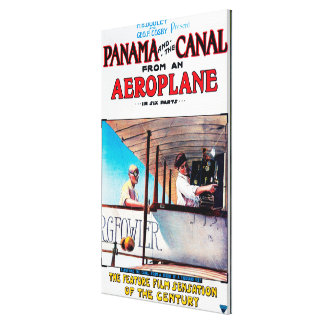 Panama and the Canal Aeroplane Movie Promo Poste Stretched Canvas Print
