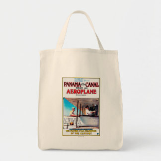 Panama and the Canal Aeroplane Movie Promo Poste Tote Bag