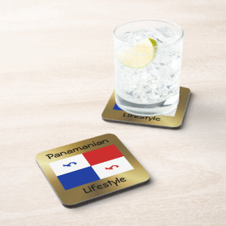 Panama Banner+Text Coaster