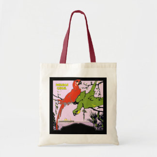 Panama Canal Parrots Tote Bag