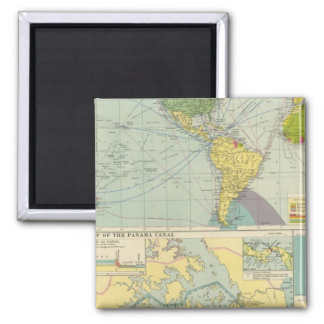 Panama Canal Square Magnet
