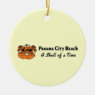 Panama City Beach Crab Christmas Ornament