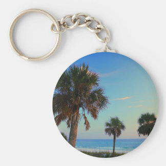 Panama City Beach, Florida palm trees Key Ring