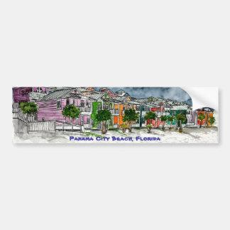Panama City Beach Florida tropical art gifts Bumper Sticker