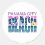 Panama City Beach Round Sticker